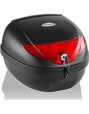 TRESKO® Bauletto per Scooter 24 lt Baule per casco, adatto per un casco, bauletto universale, ciclomotori, motocicletta, quad
