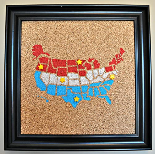 Amazon Push Pin Cork Map of the United States Red White – Track Travel Map