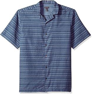 9f3322a78c994 Van Heusen Men s Short-Sleeve Desert Textures Small Plaid Shirt ...
