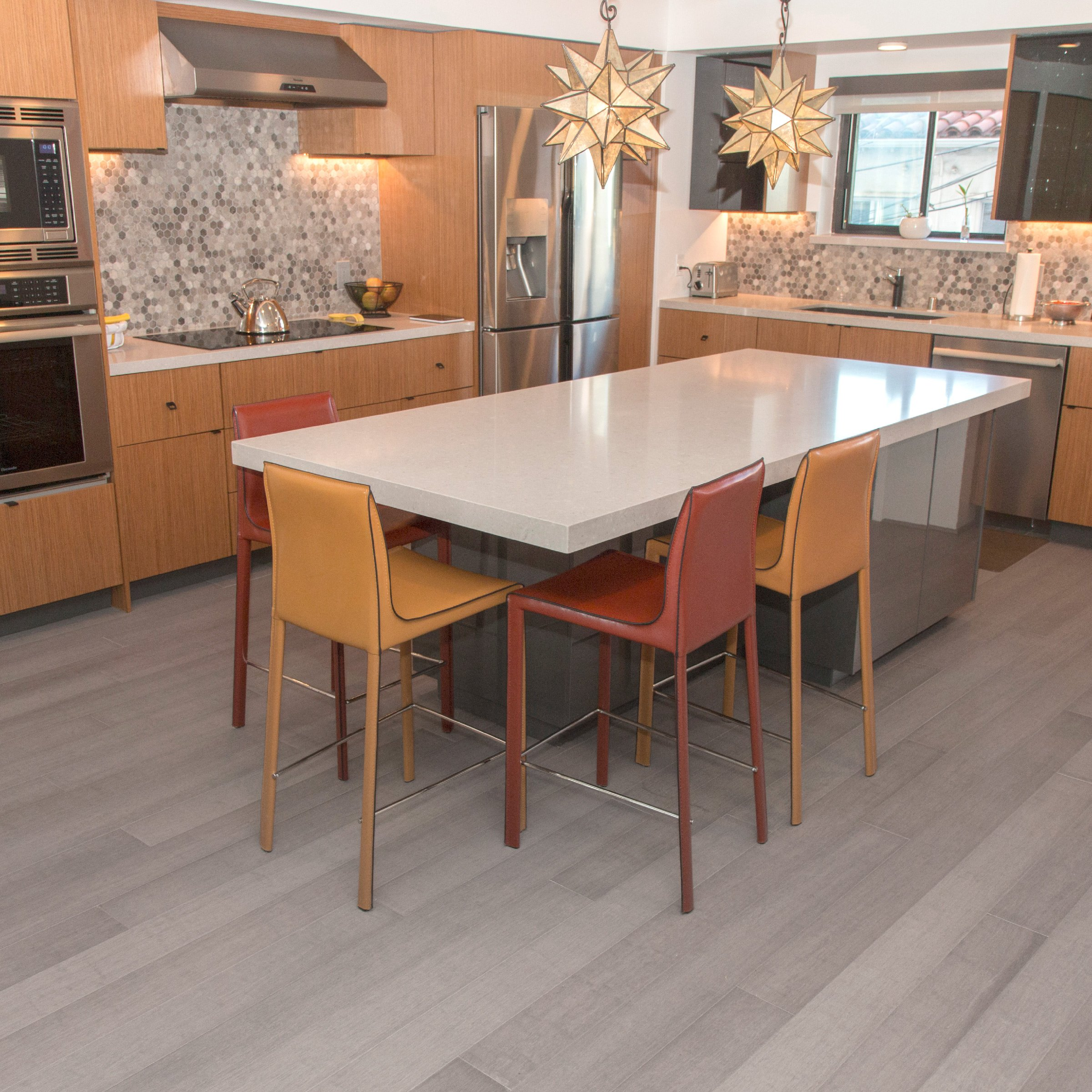 Cali Bamboo - Solid Wide Click Bamboo Flooring, Vintage Moonlight Gray - Sample Size 8'' L x 5 1/8'' W x 9/16'' H
