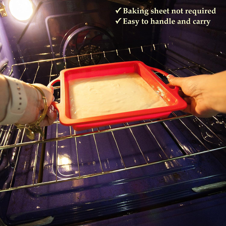 Amazon.com: Moldes para hornear, Rojo: Kitchen & Dining