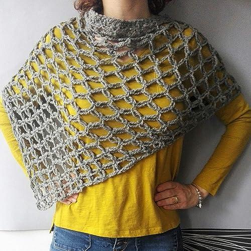 prezzo migliore design innovativo nuovi oggetti Poncio di lana, scialle in lana, scialle da donna, scialle ...