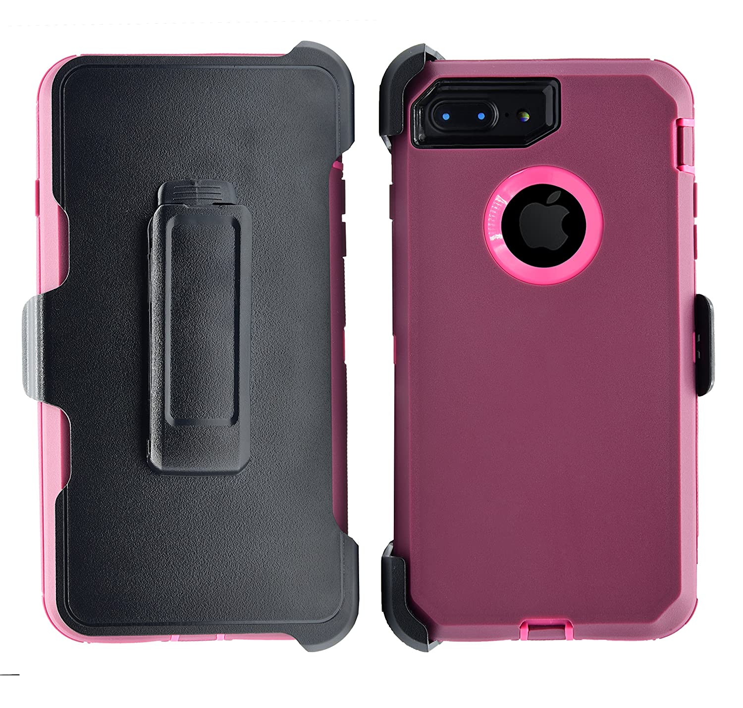 AlphaCell Cover compatible with iPhone 7 Plus / 8 Plus (ONLY) | 2-in-1 Screen Protector & Holster Case | Full Body Military Grade Protection with Carrying Belt Clip | Shock-proof Protective Spigen LifeProof Caseology Incipio Tech-21 Supcase Trianium Obliq