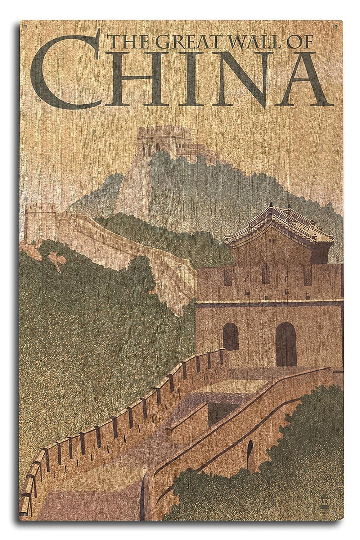 GREAT WALL OF CHINA – Lithographスタイル 10 x 15 Wood Sign LANT-50527-10x15W B07369W9V2 10 x 15 Wood Sign10 x 15 Wood Sign