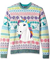 Blizzard Bay Men's Rainbow Unicorn Crew Neck Ugly Xmas