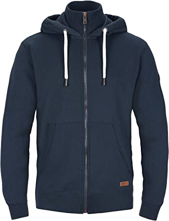 SOLID Herren Jacke TOTO Sweatjacke Sweater Kapuzenjacke Zip Hoodie Zipper  Männer Kapuze Baumwolle Einfarbig Reißverschluss: Amazon.de: Bekleidung