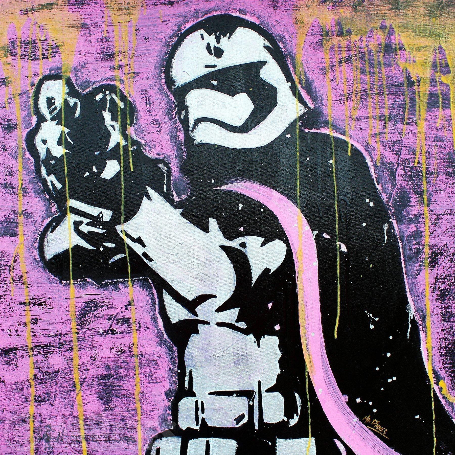 MR.BABES - ''Star Wars: Captain Phasma (Gwendoline Christie)'' - Original Pop Art Painting - Movie Portrait