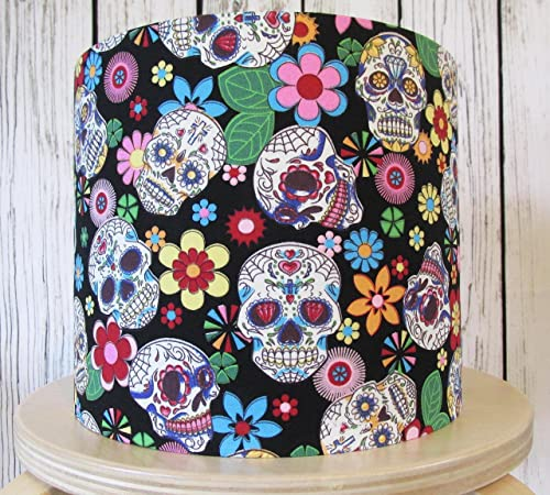 Hand Made Lampshade with Candy Skulls