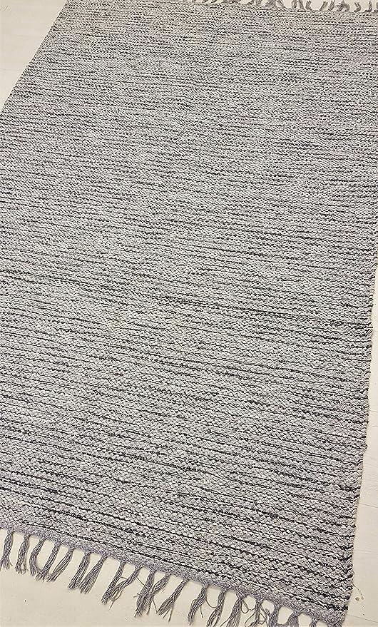 Rugsite 100% algodón Alfombra de Natural Tamaño Grande 1 cm de ...