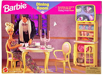 amazon com barbie dining room for folding pretty house toys games rh amazon com barbie living room furniture set barbie living room furniture set