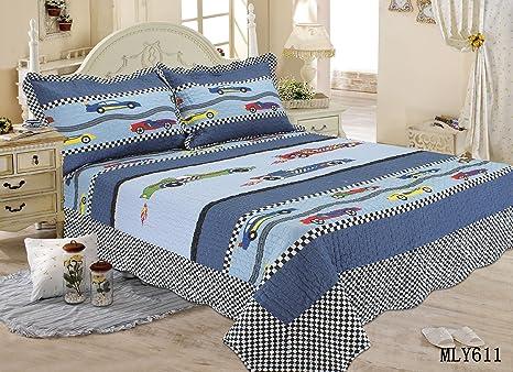 Amazon.com: Lelva Boy coche Set de colcha Kids ropa de cama ...