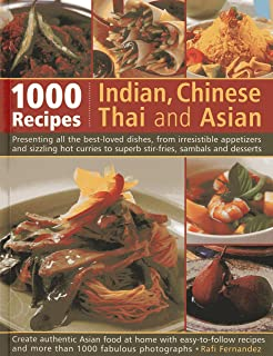 Buy indian chinese thai asian 1000 recipes cookery book 1000 indian chinese thai asian recipes forumfinder Images