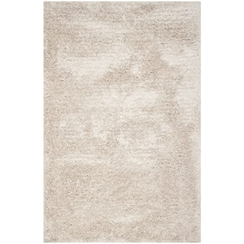 Safavieh South Beach Collection SBS562C Handmade Champagne Polyester Area Rug 5 x 8