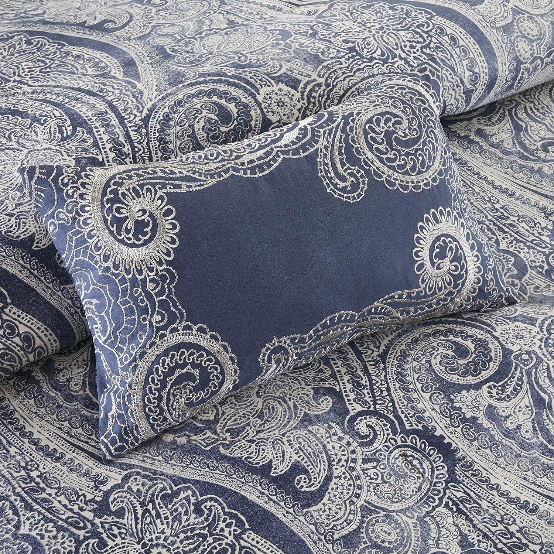 Harbor House Lorelai Cotton Printed 5 Piece Duvet Cover Set Multi King//Cal King