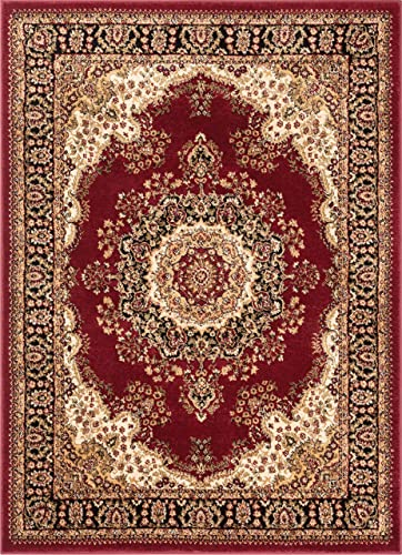 Well Woven Medallion Oriental Persian Area Rug Red 5×7 5'3″ x 7'3″