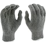 West Chester 712SG Heavy Weight String Knit Gloves [Gray] - [Pack of 12 Pairs] 9.5 in. Length, 4 in. Width 7 Cut Poly…