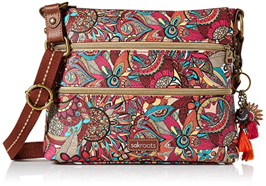 Sakroots Basic Crossbody, Optic in Bloom