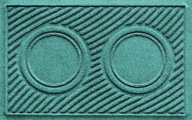 Aquamarine 18\ Aquamarine 18\ AquaShield Dog Bowl Wave Pet Feeder Mat, Aquamarine, 18  x 27