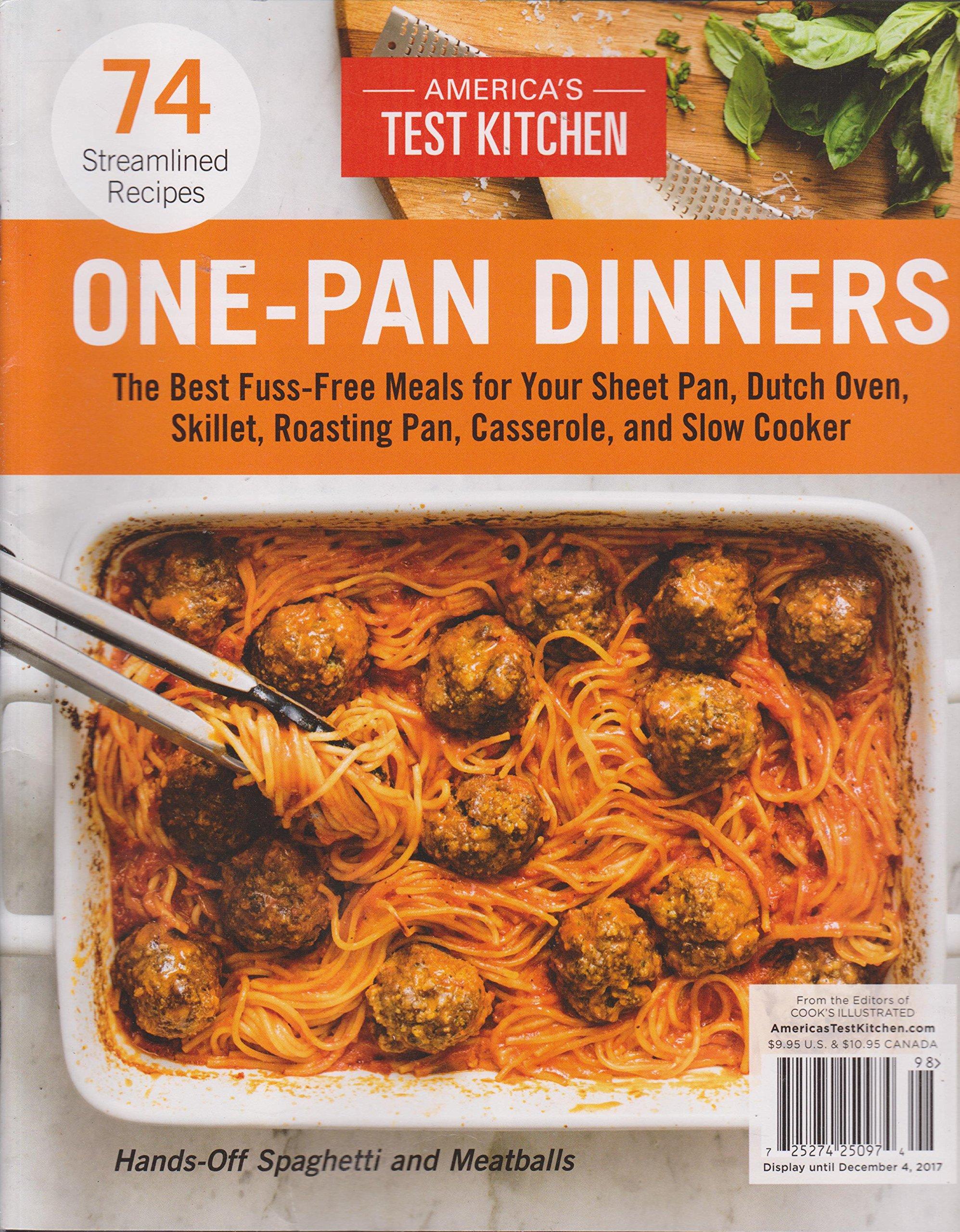 America S Test Kitchen Magazine One Pan Dinners 2017 Amazon