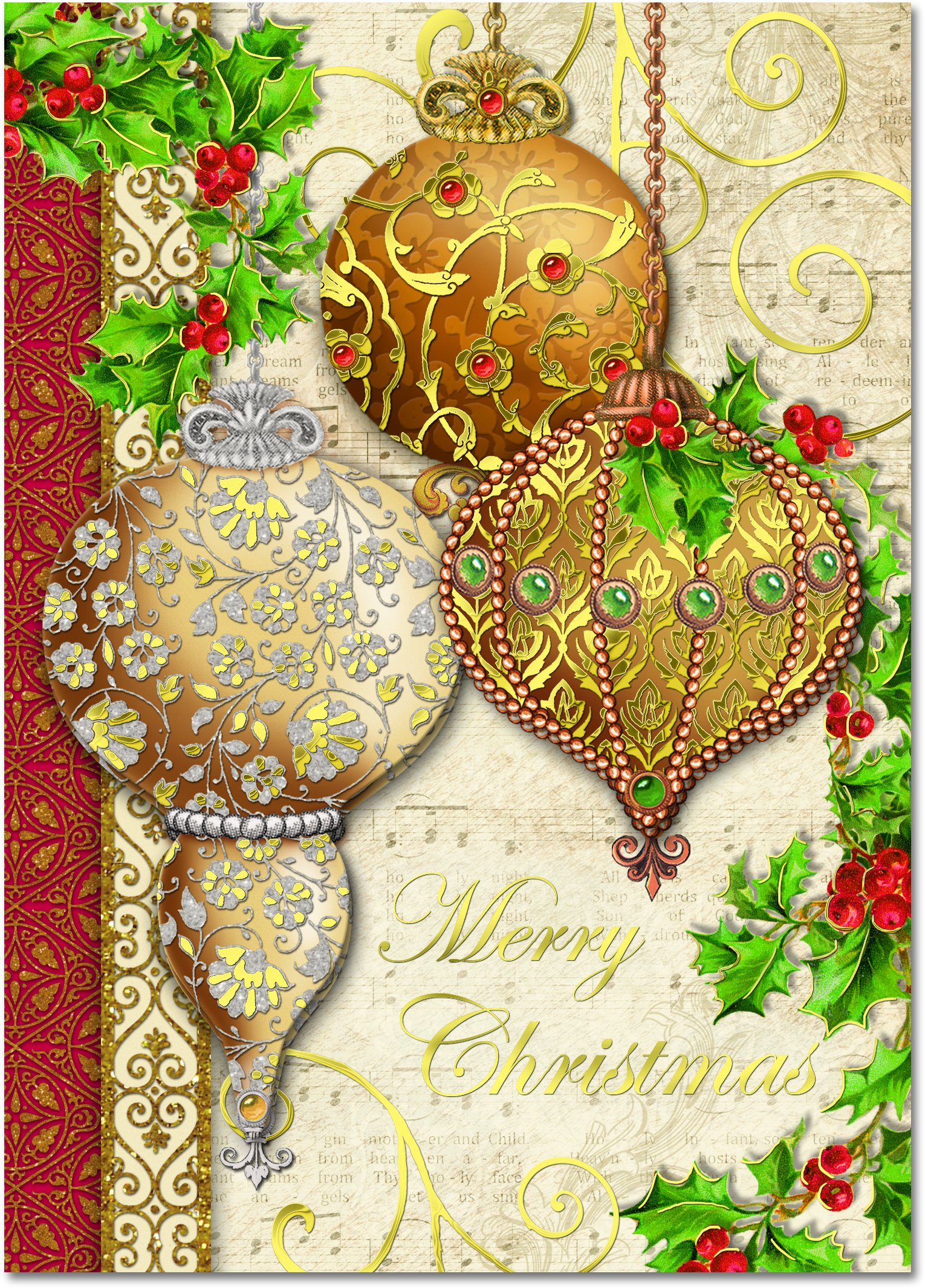 Amazon.com: Punch Studio Christmas Dimensional Greeting Cards ...