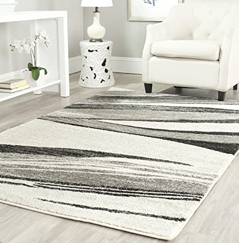 Safavieh Retro Collection RET2691-7912 Modern Abstract Light Grey and Ivory Area Rug 8 x 10