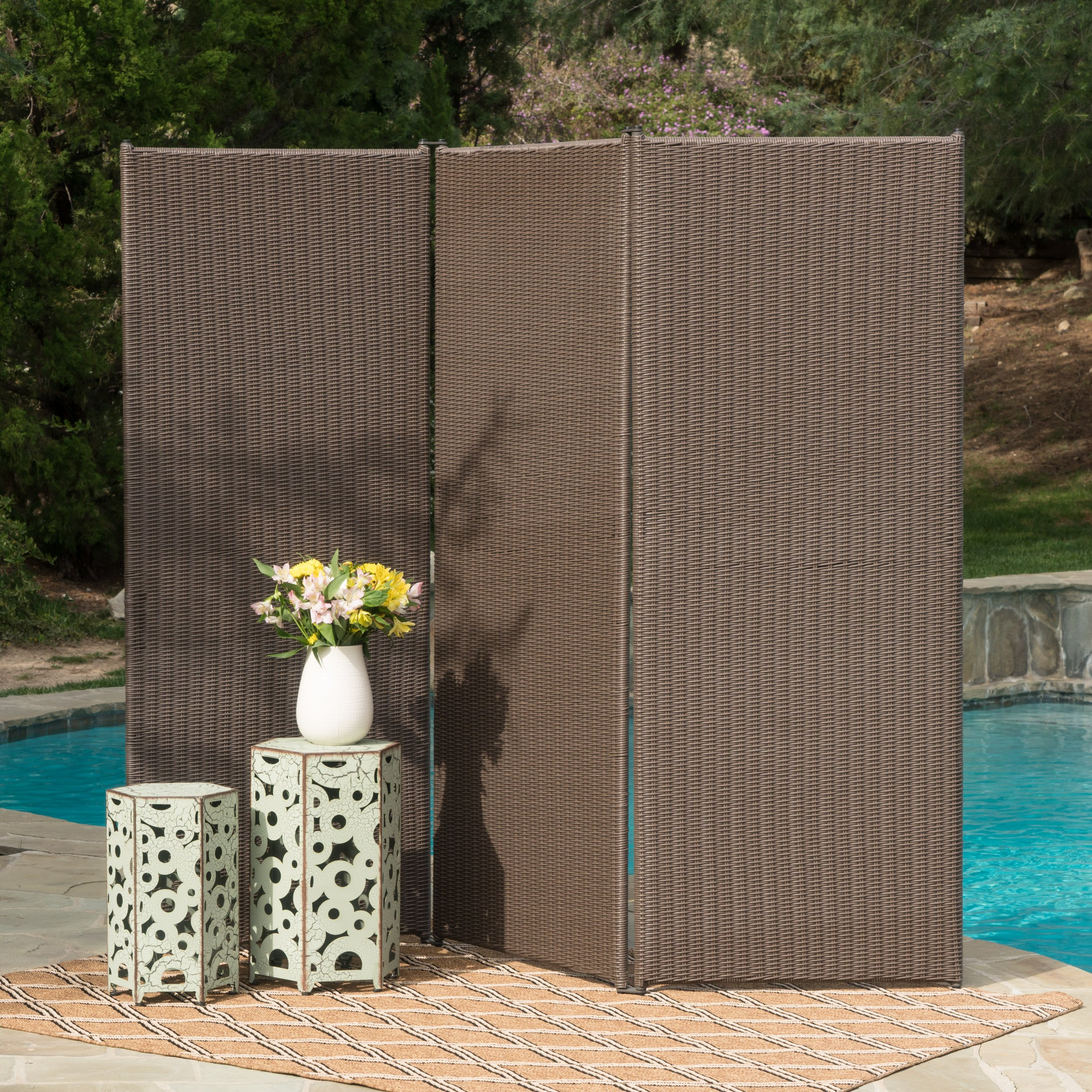 Osage Outdoor Wicker Privacy Screen (Chestnut)