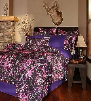 Amazon.com: Carstens Muddy Girl Camo 4 Piece Comforter Bedding Set ...