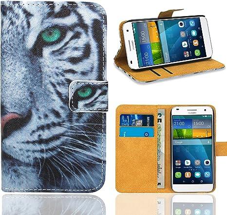 Huawei Ascend G7 Funda, FoneExpert® Wallet Flip Billetera Carcasa ...