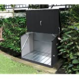 Trimetals Gerätebox, Aufbewahrungsbox, Multifunktionsbox, Fahrradbox Stowaway Anthrazit 138x89x113 cm (LxBxH); Multibox aus verzinktem Stahl