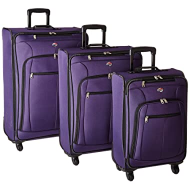 American Tourister AT Pops Plus 3pc Nested Set 21 25/Spinner 29, Purple