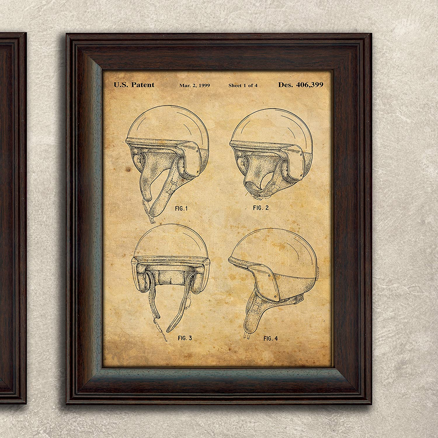 Amazon.com: Personal Prints Harley Davidson Patent Prints - Framed ...