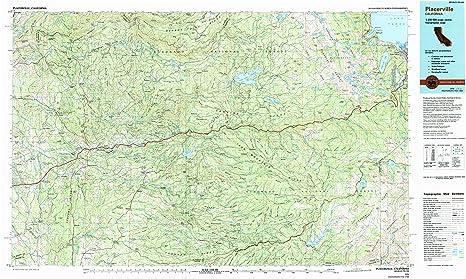 Placerville California Map.Amazon Com Yellowmaps Placerville Ca Topo Map 1 100000 Scale 30