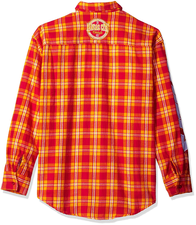 Kansas City Chiefs Wordmark Basic Flannel Shirt Large
