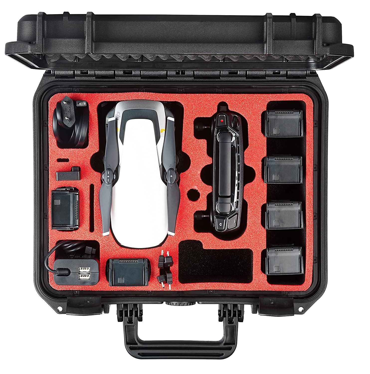 Explorer Edition Professional suitcase carry case Explorer Edition  fits for the DJI Mavic Air with space for up to 8 batteries and the complete range of accessories  Made in Germany  5 year warranty