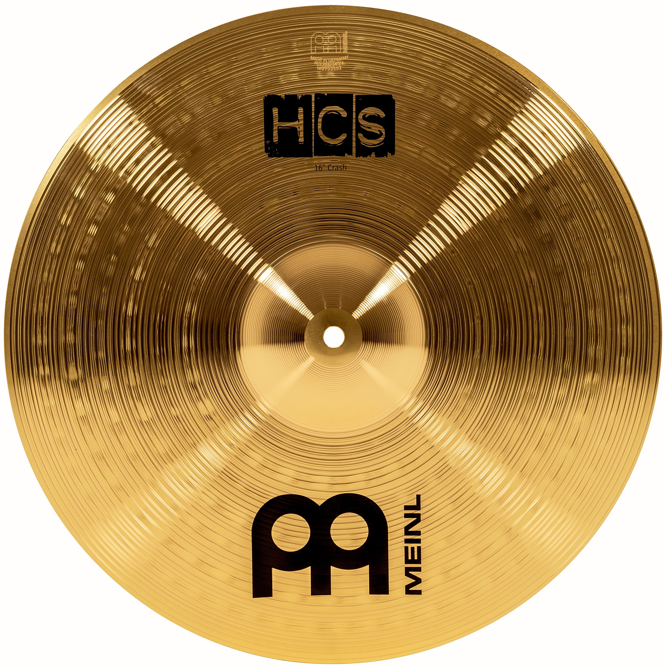 Meinl 16'' Crash Cymbal - HCS Traditional Finish Brass for Drum Set, Made In Germany, 2-YEAR WARRANTY (HCS16C) by Meinl Cymbals