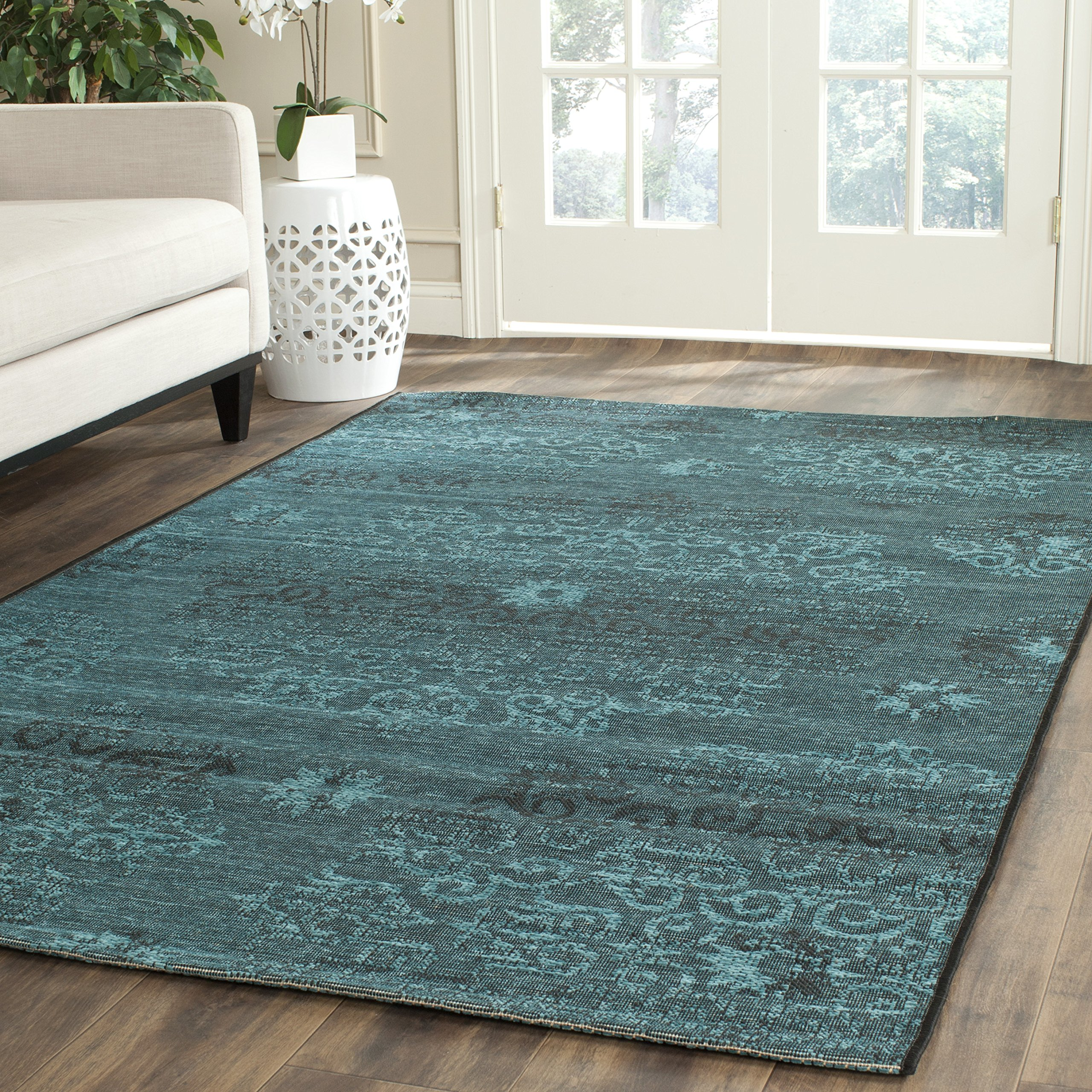 Safavieh Palazzo Collection PAL129-56C4 Black and Turquoise Area Rug (8' x 11') by Safavieh