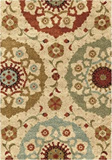 "product image for Orian Rugs Wild Weave Suzi Circles Area Rug, 5'3"" x 7'6"", Bisque"