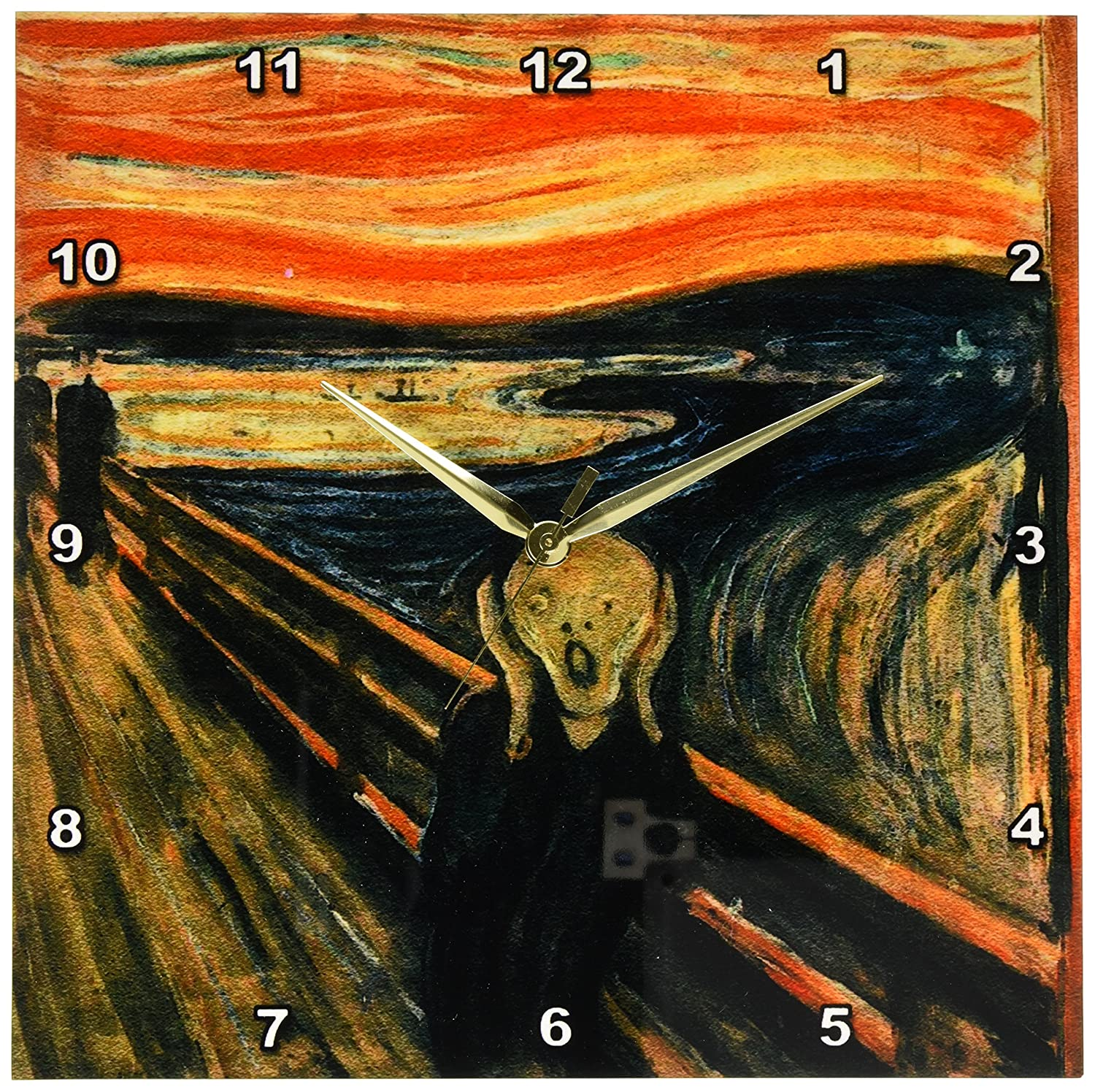 13 by 13-Inch 3dRose dpp/_60716/_2 The Scream Painting by Edvard Munch-Wall Clock