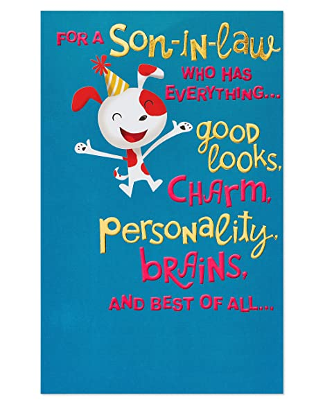American Greetings Funny Birthday Card For Son In Law With Foil Amazonin Office Products
