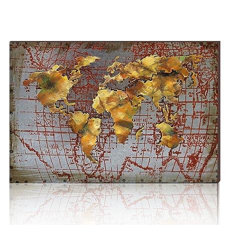 Aonbat 3d metal world map art work sculpture 100 handmade wall aonbat 3d metal world map art work sculpture 100 handmade wall art decor gumiabroncs Images