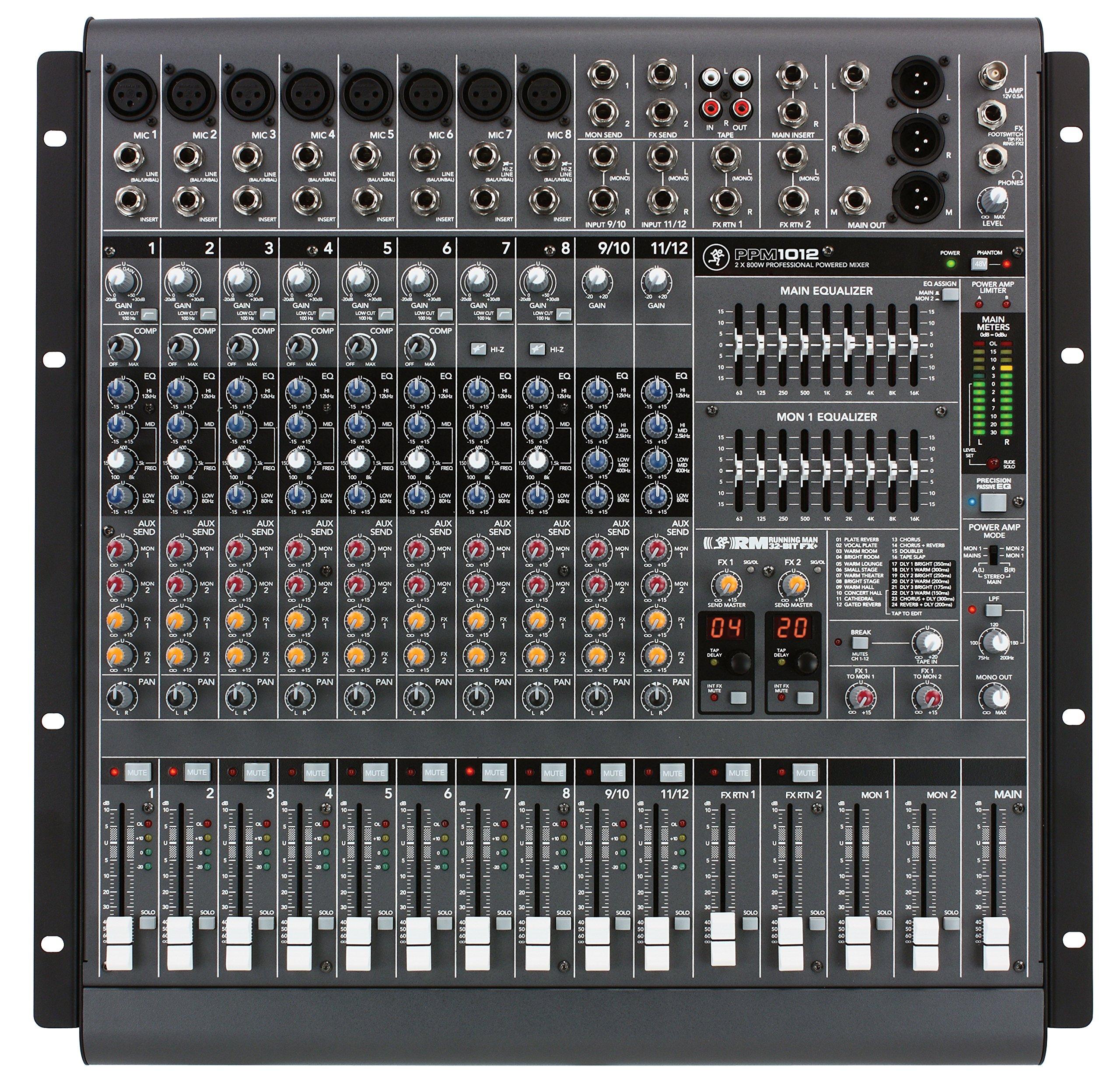 Mackie PPM1012 12-Channel, 1600-Watt Powered Desktop Mixer by Mackie