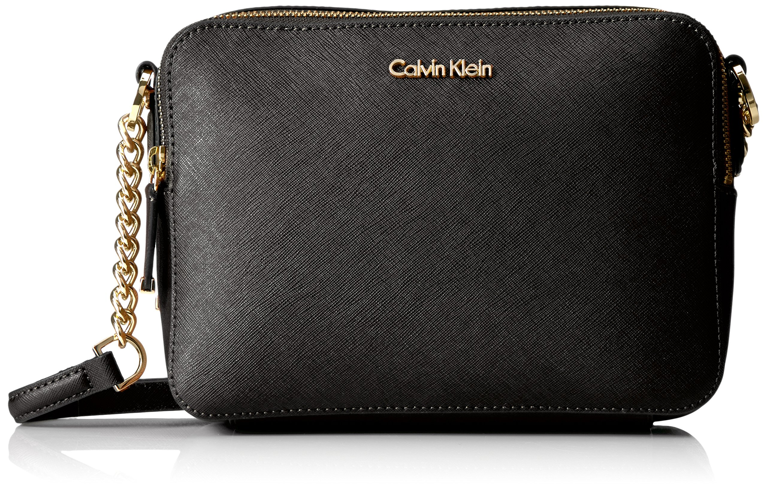 Calvin Klein Key Item Saffiano Camera Bag Crossbody by Calvin Klein