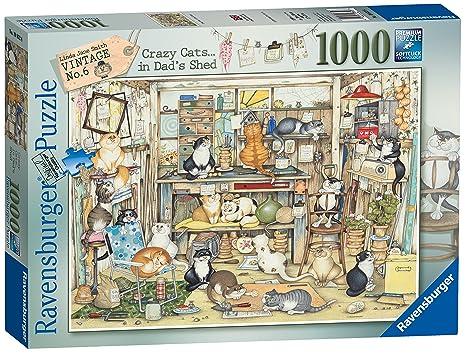 Ravensburger Linda Jane Smith Vintage Nº 6 - Puzzle de 1000 piezas, diseño de gatos