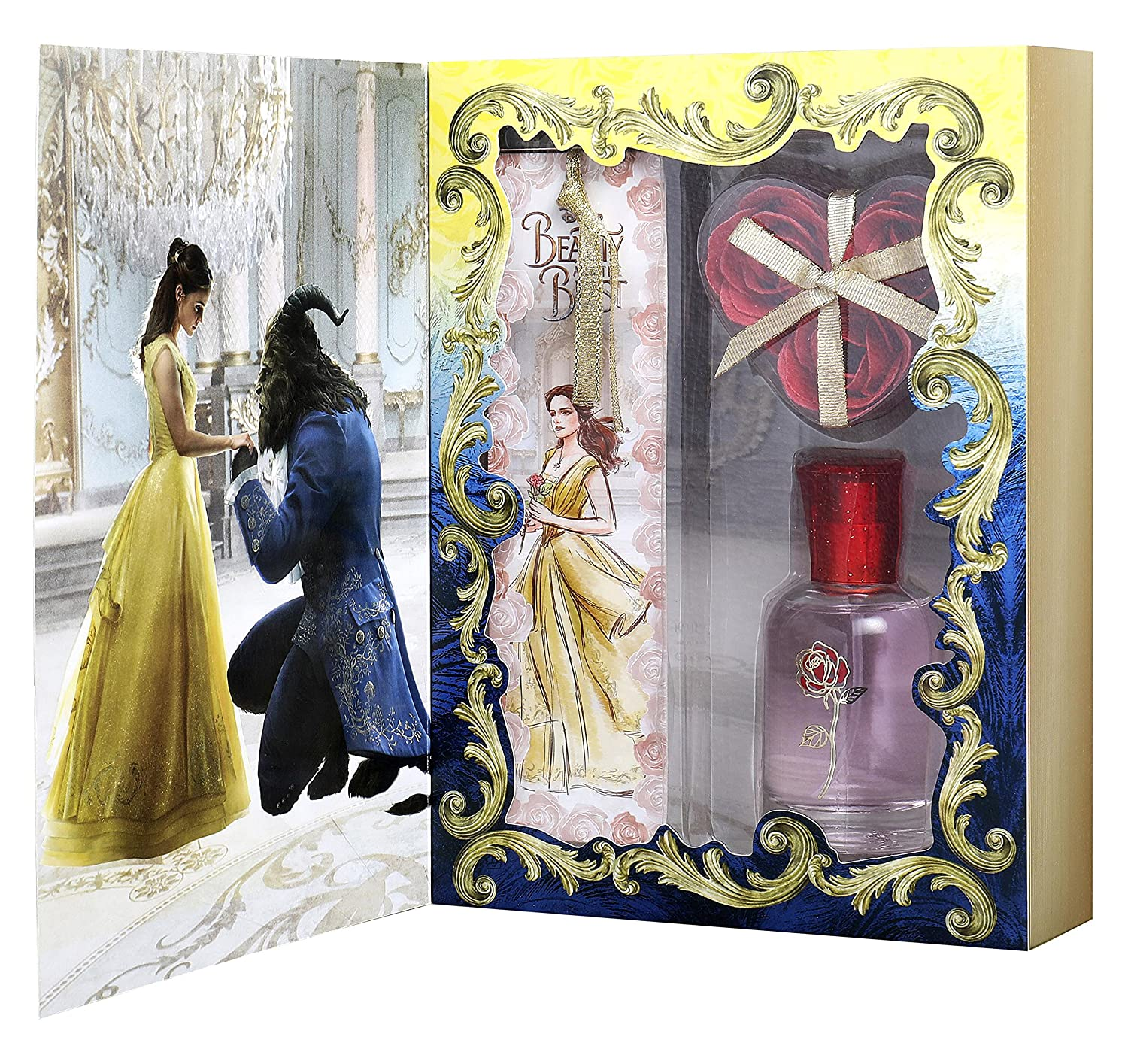 Disney Beauty and the beast for kids - 3 piece gift set 1.7oz edt spray, 0.35oz bath petals, bookmark 6640