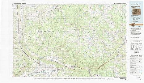 Amazon.com : YellowMaps Glenwood Springs CO topo map, 1:100000 Scale ...