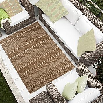 Tapiso Teppich Wohnzimmer Küche Sammlung Cottage U2013 Aspekt Sisal Gewebt  Geometrischen Linien Braun 120 X 170