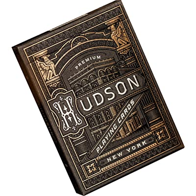 theory11 Hudson Playing Cards (Black), CARDSHUDSON_BLK: Sports & Outdoors