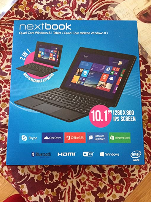 Amazon.com: Nextbook 10.1 Intel Quad Core 2 in 1 Det: Computers & Accessories