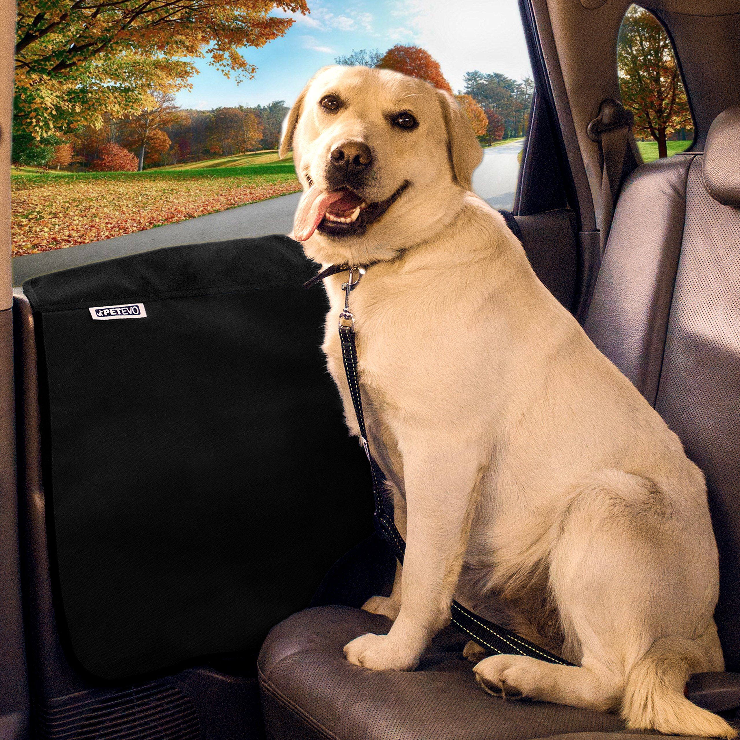 Pet Car Door Protector for Dogs   Interior Cover Guard Vehicle Back Door Protection from Pets Scratch Drooling Nails Large Safe No Slip Velcro Stick for Side Doors PetEvo by PetEvo (Image #8)
