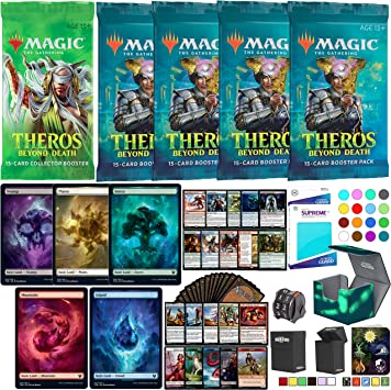 Totem World Theros Beyond Death Deck Builder Toolkit Lote: 4 Booster Packs, 10 Rares, 10 Full